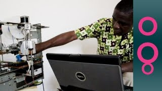 African inventor makes 3D printer from scrap