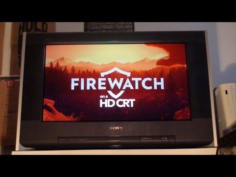 Firewatch on an HD CRT