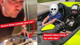 Download Dave's Birthday Cake reveals new car... Damon SCARES DAVES BEST FRIEND in Lamborghini APERTA!