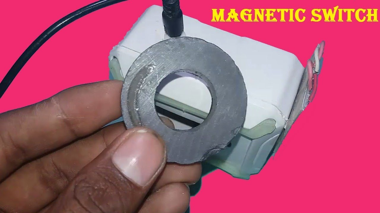 How To Make Magnetic Switch Led Light Youtube