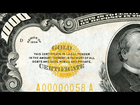 What a gold treasury seal means on old currency
