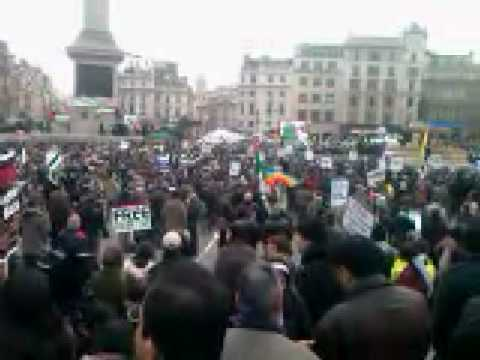 Michael Heart 'We will not Go Down' played in LONDON GAZA RALLY 17th Jan 2009