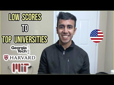 Top Universities With Low Scores | Undergrad & MS In US