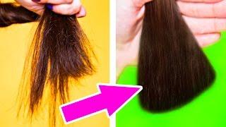 видео Сухие кончики волос что делать в домашних условиях