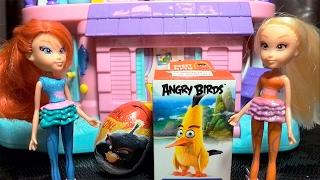 Клуб Винкс - ЭНГРИ БЁРДЗ В КИНО Злые птички Сюрпризы игрушки Angry Birds Movie  Winx Club