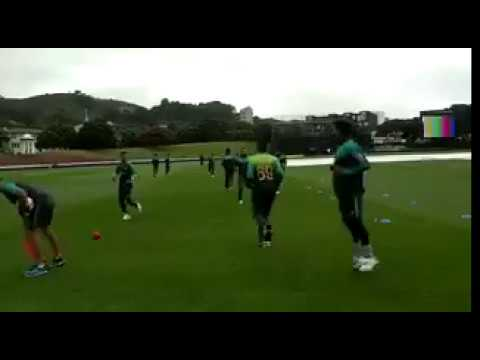 Shadab Khan Hits Hassan Ali With ball....Funny Moment....#newzeland