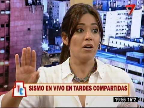 Sismo en vivo en el programa de Gisela Campos