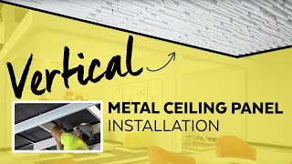 Vertical Metal Ceiling Panels | Installation How to | Armstrong Ceiling Solutions