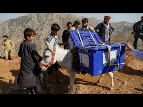 Millions of Afghans defy Taliban threat to vote in presidential elections