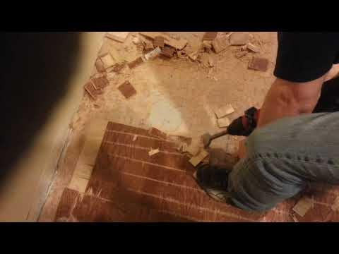 Removing Glue Down Engineered Hardwood Flooring Pt 2