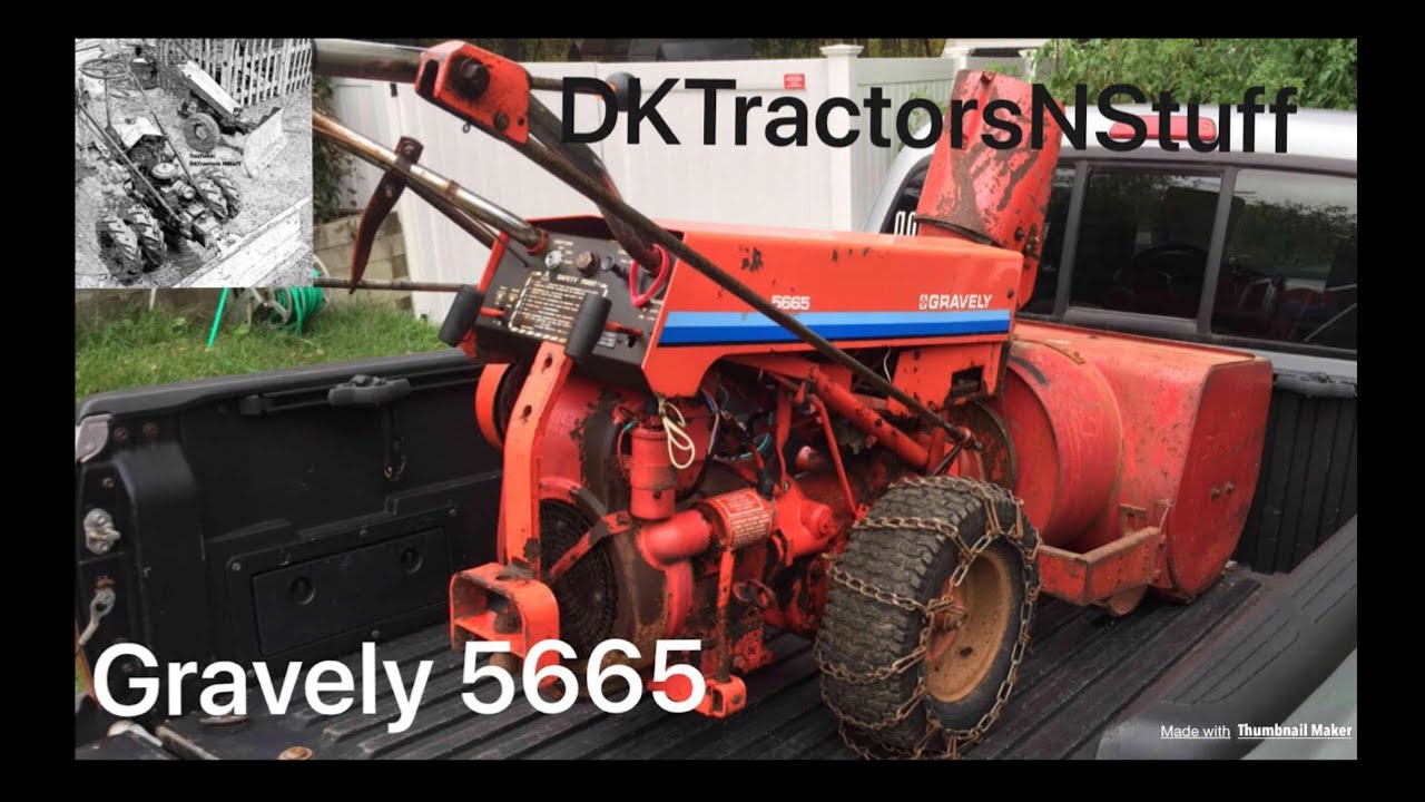 My Gravely 5665 walk behind tractor with MA210 snow cannon