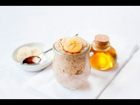 Banana Overnight Oats with Honey & Almond Butter