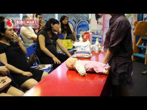 Video tắm bé [Phần 1]  Chuẩn bị tắm bé - Lớp học tiền sản Bibo Mart