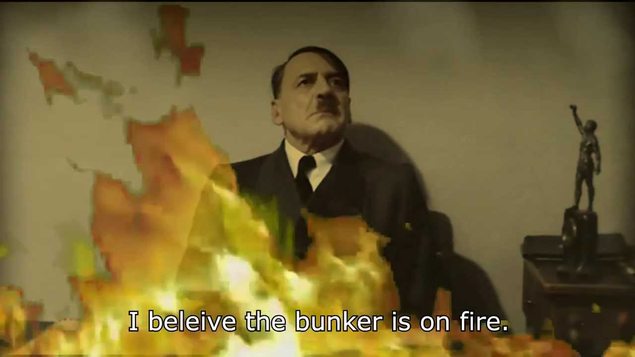 Hitler is informed the bunker is on fire again.