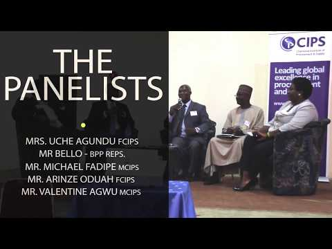 PANEL OF INDUSTRY CPOs @ THE CIPS EVENT, NIGERIA BRANCH
