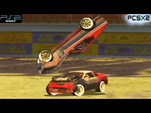 Destruction Derby Arenas -  PS2 Gameplay SD + FXAA (PCSX2)