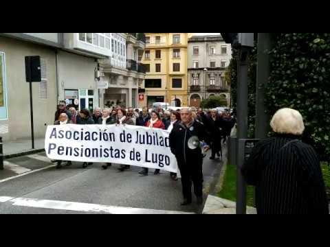 Nueva marcha de los pensionistas de Lugo para exigir prestaciones dignas