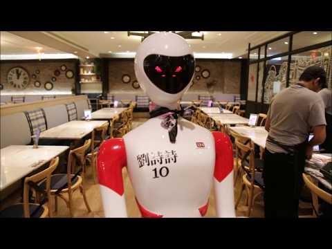 Robot Server at Nam Heong Ipoh Restaurant Malaysia