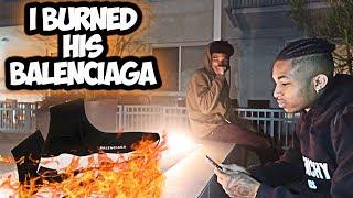 I BURNED DDG $700 BALENCIAGA'S !!!
