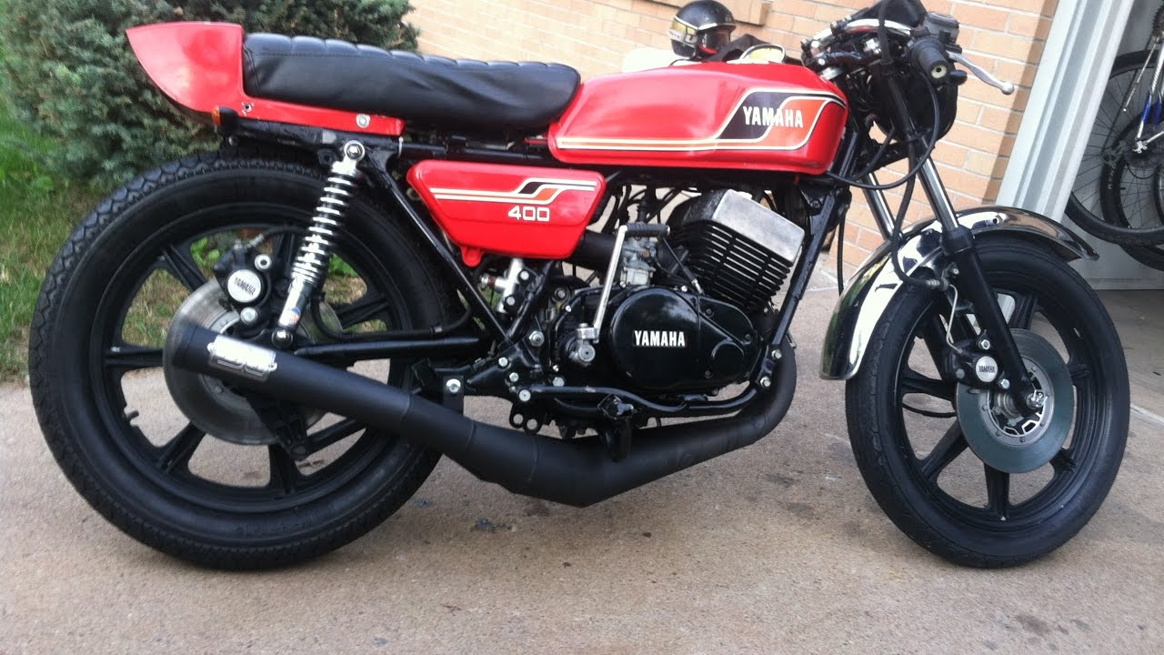 77' RD400 with DG pipes TWO STROKE