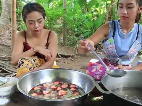 Memasak Camilan Pencuci Mulut Ala Dua Gadis Desa Manja Ini Hasilnya Segar Banget Meski Pakai Kulkas