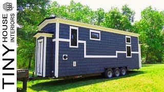 28ft Tiny Home On Wheels Is Beautifully Handcrafted