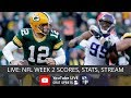 NFL Live Stream Instructions, Scores, & Stats For Week 2