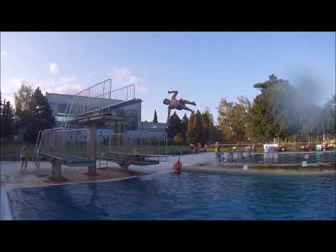 flips in aquapark Blansko [Dakki 3run]