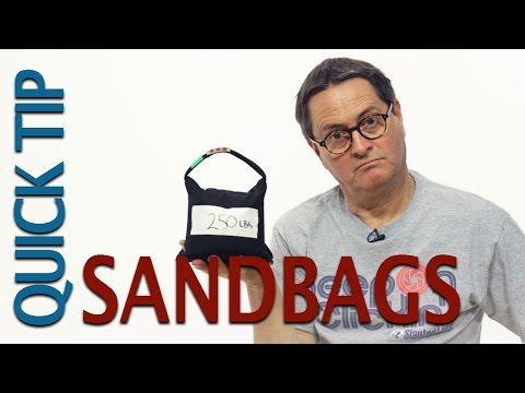 Studio Equipment- Sandbags Quick Tip