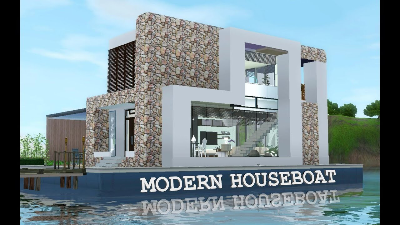 Sims  How To Build Houseboat
