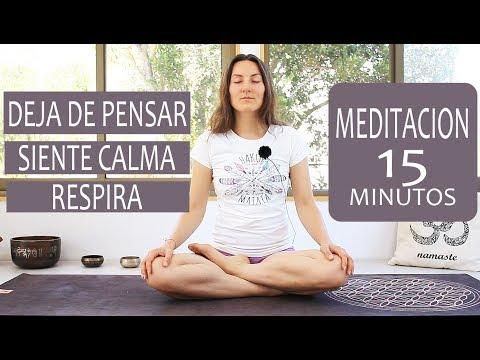 MEDITACION para DEJAR DE PENSAR, aliviar estres y ansiedad - guiada   MalovaElena