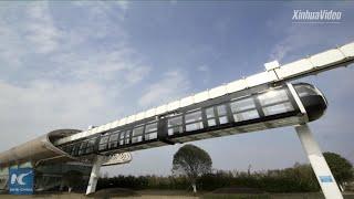 "Baixar Transparent ""sky train"" undergoes tests in Chengdu, China"