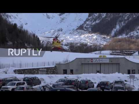Italy: At least 3 killed, 3 wounded and 2 missing in avalanche near Courmayeur