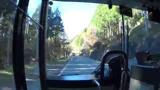 西武観光バス 急行 三峯神社→(迂回路)→西武秩父駅 前面展望