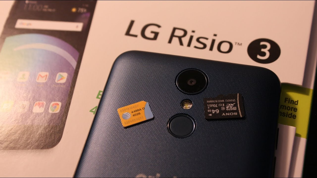 LG Risio 3 : How to Remove / Install SIM & MEMORY Card by