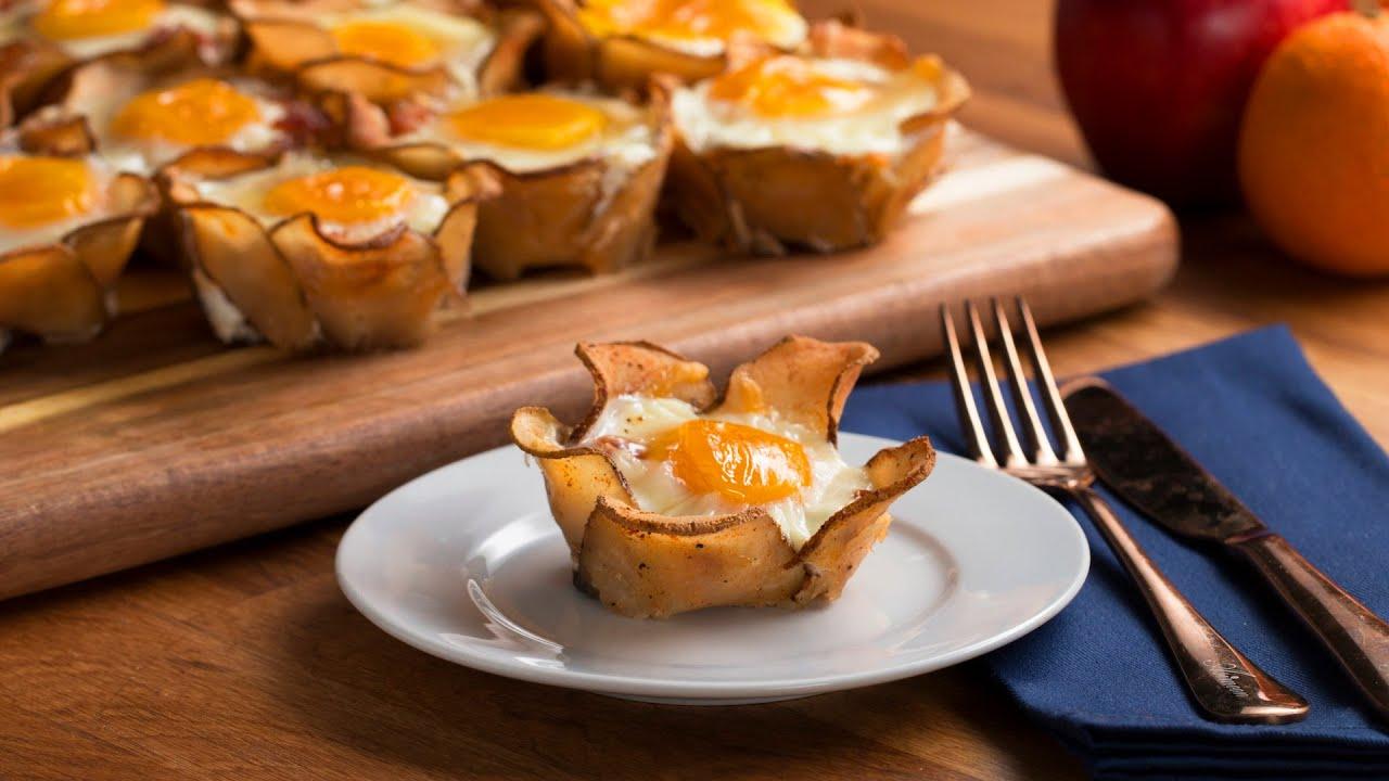 Potato Flower Breakfast Cups