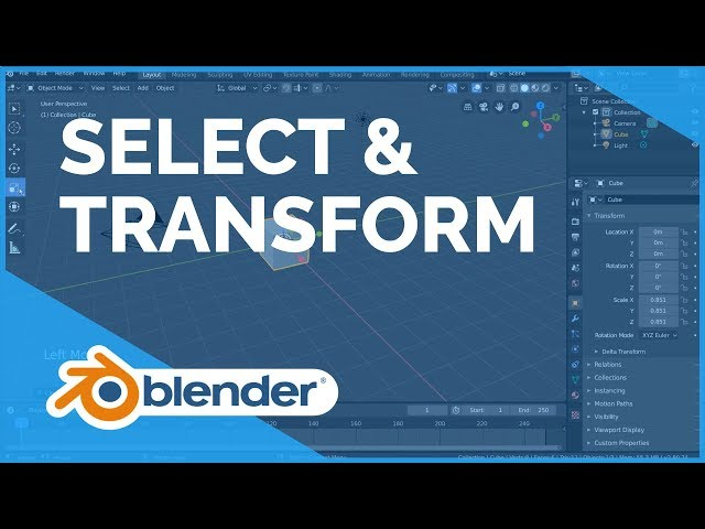 Select & Transform - Blender 2.80 Fundamentals