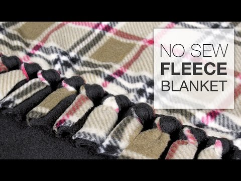 DIY No Sew Fleece Blanket Tutorial YouTube Custom Cute Fleece Throw Blankets