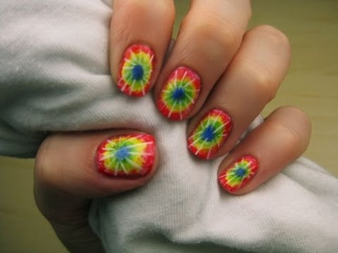 Tie-Dye Nail Art - Tie-Dye Nail Art - YouTube