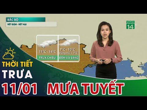 Thời tiết trưa, chiều 11/01/2021: Sa Pa, Y Tý - Lào Cai đang có mưa tuyết   VTC14