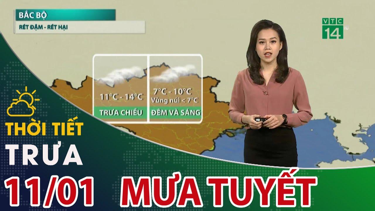 Thời tiết trưa, chiều 11/01/2021: Sa Pa, Y Tý – Lào Cai đang có mưa tuyết   VTC14   Thông tin thời tiết hôm nay và ngày mai