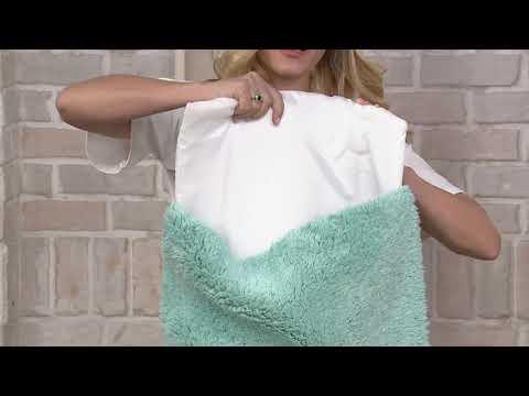 Casa Zeta-Jones 100% Cotton Cloud Bath Mat W/ Removable Memory Foam On QVC
