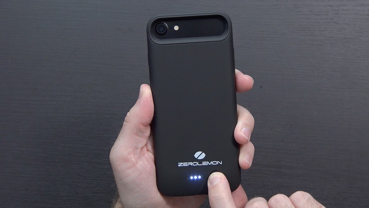 the best attitude 202d9 34170 ZeroLemon 4000mAh iPhone 7 Battery Case
