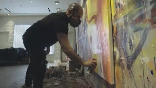 He makes mesmerizing paintings — and he's colour blind