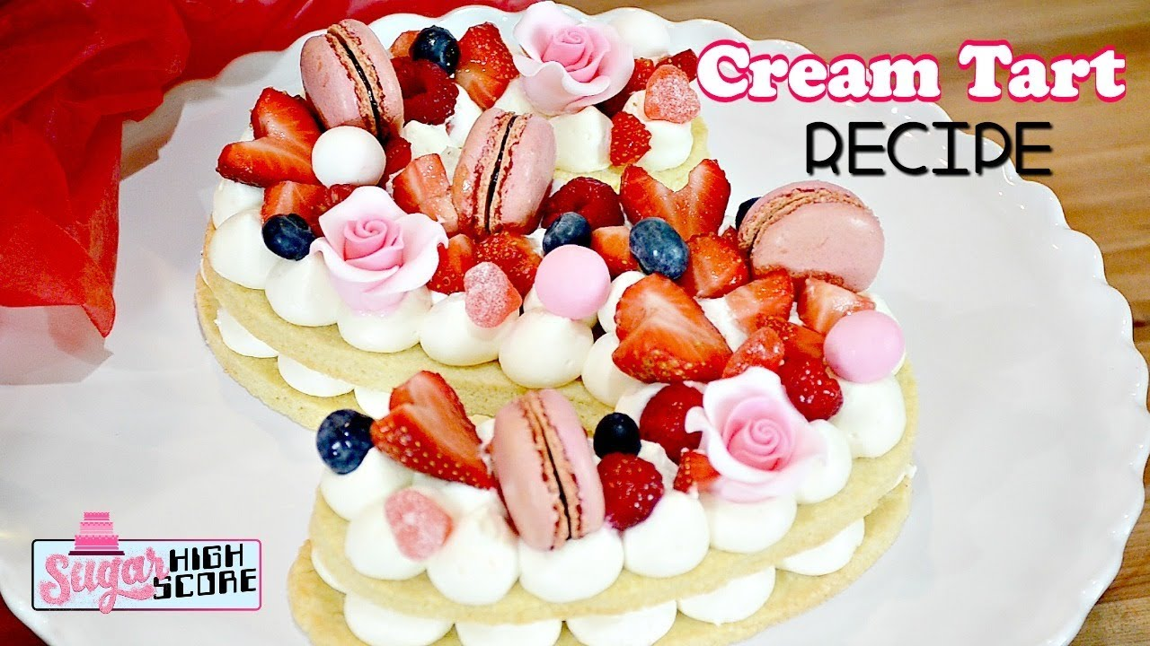 Diy Cream Tart Alphabet Cake Easy Recipe Youtube