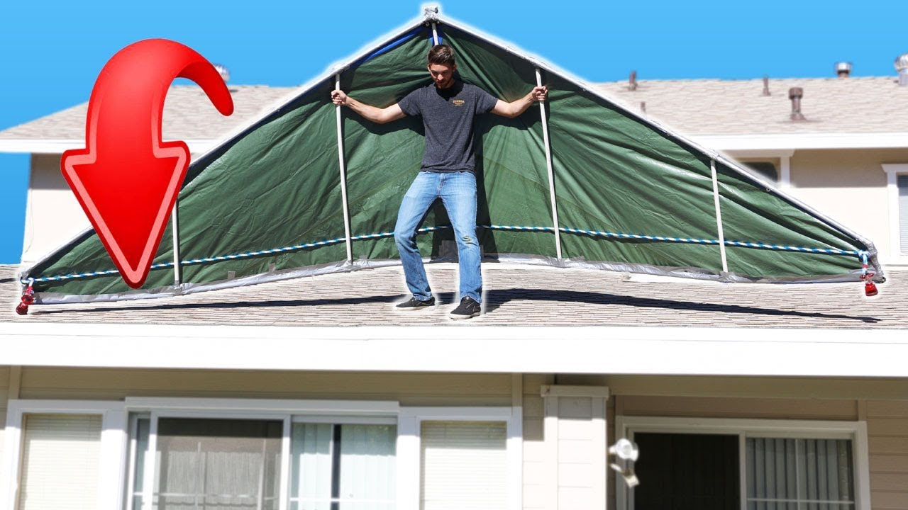 Duct Tape Hang Glider LEAP OF FAITH Experiment