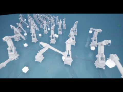 Industrial Robot Simulation Ray Tracing