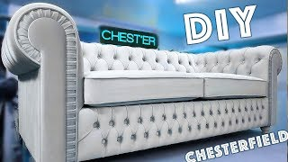 Sofa do it yourself. Sofa Chesterfield Изготовление дивана Chesterfield своими руками