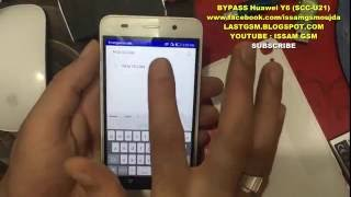 Huawei Y6 SCC U21 Bypass Google Account Remove frp 2016
