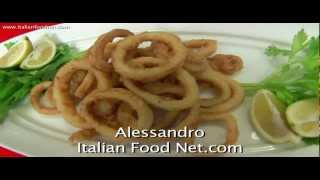 How To Make Deep Fried Squid Rings - Frittura Di Calamari